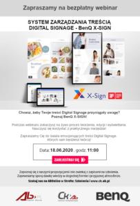 System zarządzania treścią Digital Signage - BenQ X-Sign