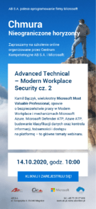 Advanced Technical - Modern Workplace Security cz.2