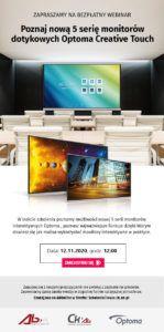 Poznaj nową 5. serię monitorów dotykowych Optoma Creative Touch
